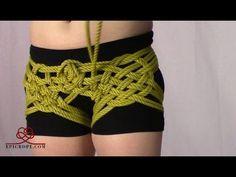 Beginner | Rope Bondage Tutorial: Basic Hishi (Diamond) Leg Tie - YouTube