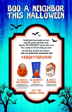 BOO a neighbor this Halloween #BooitForward