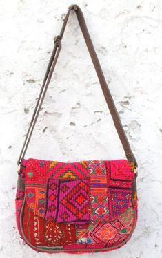 60209d09a8 vintage banjara sling bag handwork embroiedry leather purse Indian hobo  shoulder bag handbag mirror work.