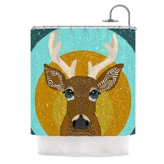 Stag in Grass by Art Love Passion Shower Curtain