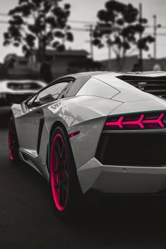 Lamborghini Grey with touch of hot pink
