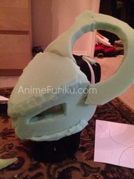 foam structure for triceratops mask