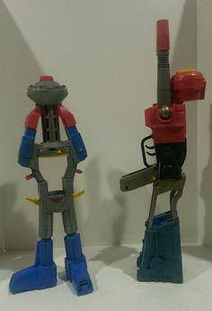 2 VINTAGE 80'S GOBOTS TRANSFORMERS ROBOT ROGUN CAP GUN TOY ARGO #ARGO