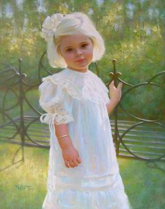 Spring is in full bloom for this delightful little girl.  My college friend Brian Neher painted this portrait.