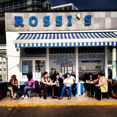 ROSSI'S - Westcliff, Southend-On-Sea, Essex. Superlative white ice-cream made by Italian ice-cream makers. Deffo part of my childhood!!