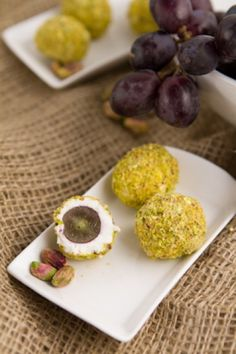 Goat Cheese Covered Grapes