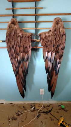 Foam and Feather hawk girl wings More