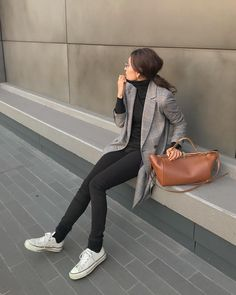 I can rely on it ♡ `` Black Skinny '' November model coordination 12 fires . Minimal Outfit, Minimal Fashion, Model Outfits, Fashion Outfits, Womens Fashion, Fall Winter Outfits, Winter Fashion, Black Skinnies, Japanese Fashion