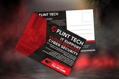 New postcards for Flint Tech Solutions in Wexford, PA #postcards #flint #technology #cybersecurity #itsupport #cloudservices #pittsburgh Wexford Pa, Pittsburgh, Design Projects, Cyber, Postcards, Technology, Tech, Tecnologia, Greeting Card