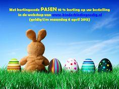 Nog een leuke Paasoutfit nodig voor je zoon/dochter? T/m 2e Paasdag krijg je 10 % korting op je bestelling in de webshop van www.kinderkledingnodig.nl