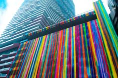 Colorful & Striped Massive Mural on a Miami's Building Facade – Fubiz Media