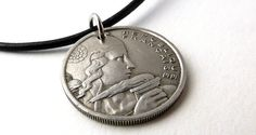 Coin necklace French Vintage necklace Upcycled by CoinStories