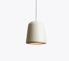 Material Pendant, White Concrete, Design by Nørgaard & Kechayas http://www.newworks.dk/