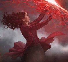 Close-up of Scarlet Witch from CAPTAIN AMERICA: CIVIL WAR concept art