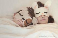 Nada de monos. Cuando duermen son perritos, conejitos... #camas #kids #ninos