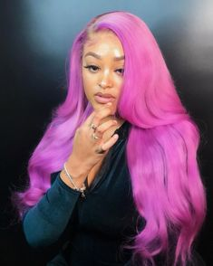 Light purple lace frontal wig,Fashion color for summer - Colorful Hair Medium Styles Baddie Hairstyles, My Hairstyle, Black Girls Hairstyles, Casual Hairstyles, Braid Hairstyles, Colored Weave Hairstyles, Saree Hairstyles, Korean Hairstyles, Teenage Hairstyles
