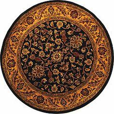 Safavieh Handmade Golden Jaipur Black/ Gold Wool Rug (6' Round)  $137.69 @ Overstock.com