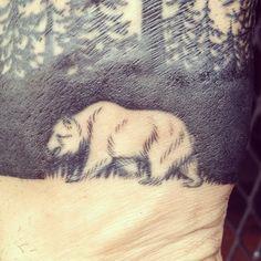 Kapten Hanna tattoo artist Kyle Krieger's forest tattoo