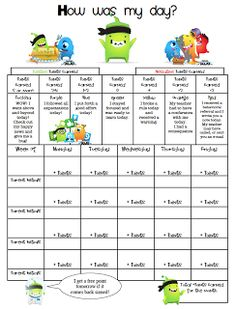 Class Dojo Behavior Tracking Sheet