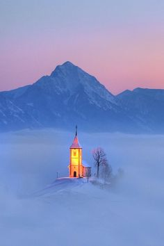 Church of Saints Primus and Felician, Jamnik, Kranj, Slovenia - World of fairy tales by Janez Tolar Places Around The World, Oh The Places You'll Go, Places To Travel, Around The Worlds, Beautiful World, Beautiful Places, Winter Szenen, Winter Light, Place Of Worship