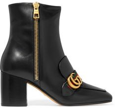 Gucci - Leather Ankle Boots - Black
