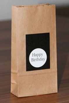 5x geschenktüte, Geburtstag, Kraftpapier, Tüte