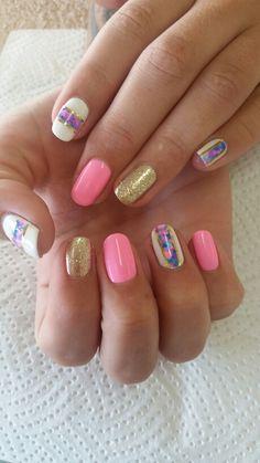 Marble gelish nails