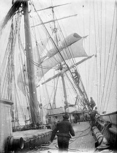 On deck of the 'Iquique' (1892)