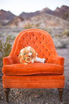 Velvety chair in salamander orange. Jaune Orange, Orange Yellow, Orange Color, Burnt Orange, Orange Sofa, Orange Aesthetic, Aesthetic Colors, Aesthetic Collage, Orange Wallpaper