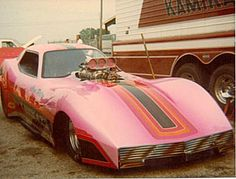 Shirley Muldowney's Corvette funny car dragster.