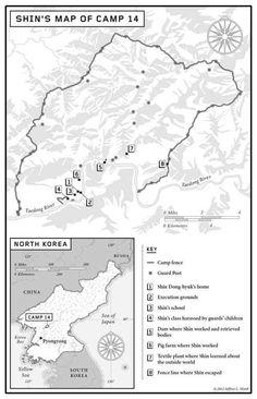 El Campo 14, según el recuerdo de Shin Dong-hyuk, la única persona que se conoce que nació y escapó de allí.