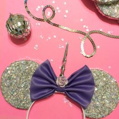 Silver Uni-Mouse Ears by ShopHouseOfMouse on Etsy