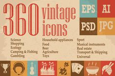 Vintage Icons Collection  @creativework247