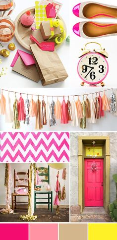 Color inspiration: Nuts over neon and netural... can't say enough about how much I LOVE this combination :) :)
