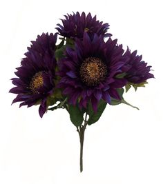 Blooming Autumn 18'' Sunflower Bush - Purple