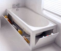 This brings a new meaning to bathroom storage!