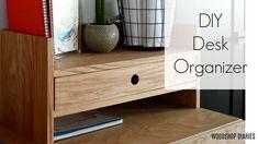 25+ DIY Handmade Christmas Gift Ideas You Can Give This Year! Diy Storage Desk, Desk Organization Diy, Diy Desk, Furniture Plans, Diy Furniture, Simple Diy, Easy Diy, Armoire, Diy Shutters