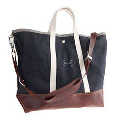 Steele Canvas Basket Corp.™ for J.Crew Japanese Indigo Coal Bag