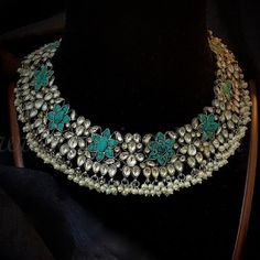 Necklace KrishnaKamal Antique Jewellery, Antique Rings, Turquoise Necklace, Bangles, Antiques, Pendant, Jewelry, Fashion, Ancient Jewelry