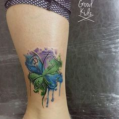 watercolor clover tattoo - Buscar con Google
