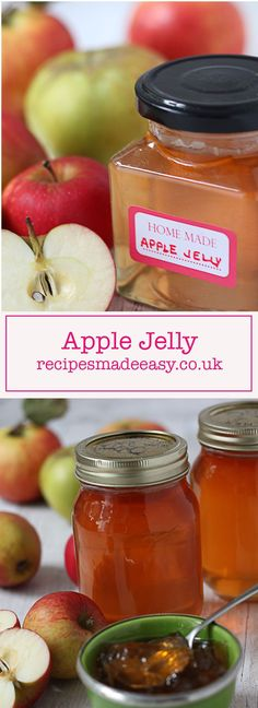 Apple Jelly is a versatile preserve that's simple to make and perfect for using up a glut of apples. Use as a delicious alternative to redcurrant jelly Pear Recipes, Jelly Recipes, Fruit Recipes, Apple Jelly, Recipe Creator, Jam And Jelly, Apple Pear, Chutney Recipes, Zucchini