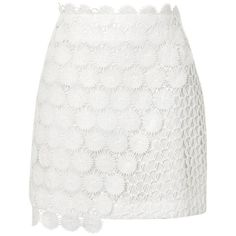 Women's Topshop Rosie Mix Lace Miniskirt (€30) ❤ liked on Polyvore featuring skirts, mini skirts, white lace mini skirt, lacy skirt, topshop skirts, daisy print skirt and lace skirt