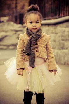 Cute winter baby