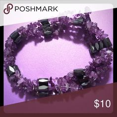 Purple Magnetic Rock Candy Necklace 🌸 Welcome and thank you for checking out my closet 🌸  Please read below if you are interested in the item:  All items are 💯% Authentic!   Always open to reasonable offers and possible trades.   🛍 Up for sale: Not edible. Made to look like rock candy. Magnetic so you can wear it as a necklace, bracelet, ankle bracelet, arm band etc. Crafted Beautifully and in Excellent condition. Jewelry Necklaces