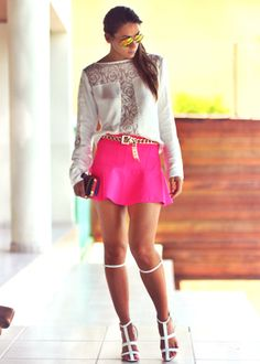Pink skirt - Decor and High Heels - Fashion Blog