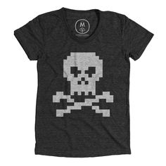 One bit Jolly Roger by Pixelivery at Cotton Bureau