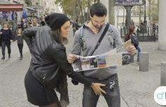 Pour lutter contre les maladies masculines, elles touchent des testicules d'inconnus en pleine rue