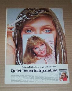 1976 Clairol Quiet Touch hair color hairpainting