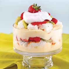 Bagatelle aux fraises et kiwis - Desserts - Recettes 5-15 - Recettes express 5/15 - Pratico Pratique