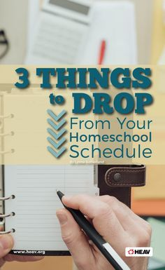 3 Things to Drop from Your Homeschool Schedule